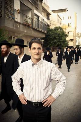Eitan Dobkin in the streets of Bnei Brak
