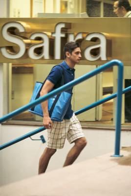 Polo shirt by Scye Basics, shorts by United Arrows, bag by Porter