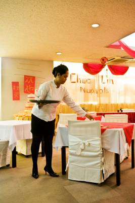 Hospitality student practises her skills
