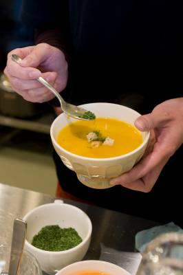 Aomori soup using local ingredients