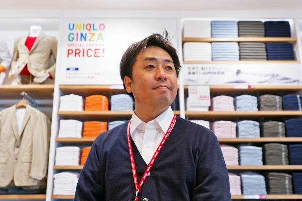 Teruaki Matsumoto, store manager of the new Uniqlo in Ginza