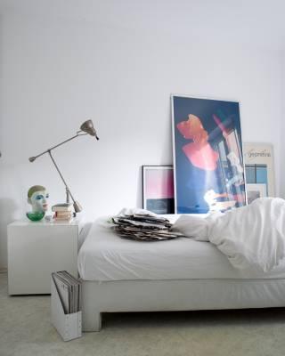Thiele's 43 sq m apartment doubles as his studio