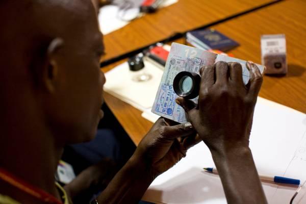 Using TSA methods to check passports