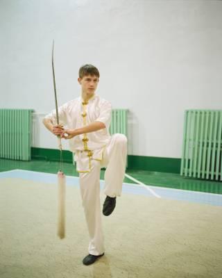 Vitaly, a wushu athlete, Blagoveshchensk