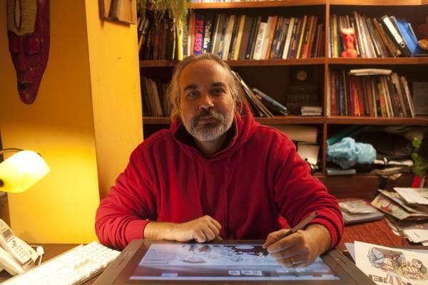 Bahadir Baruter, cartoonist at Penguen, the satirical weekly magazine