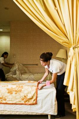 Housekeeping students get to work