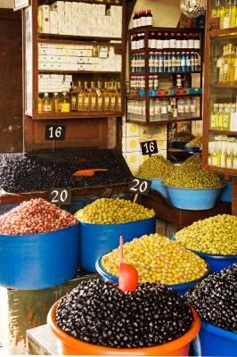 Olive stall at Habbous market