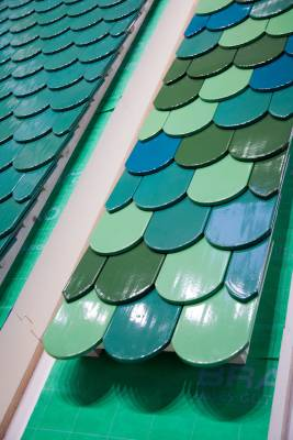 Roof tile colour samples