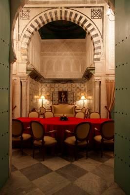 Interior of Dar Hamouda Pacha restaurant