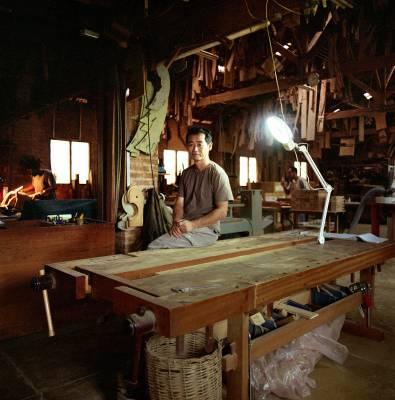 Carpenter and furniture designer Morito Ebine