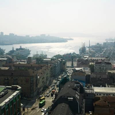 View towards harbour of Vladivostok