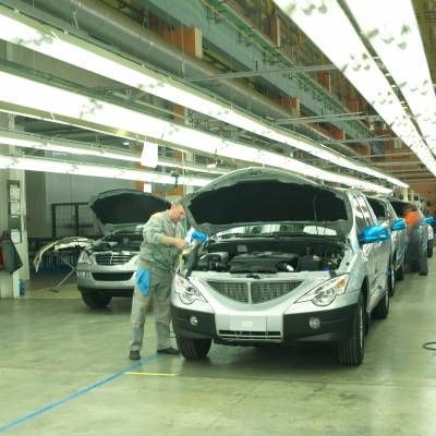Car production line at Sollers factory