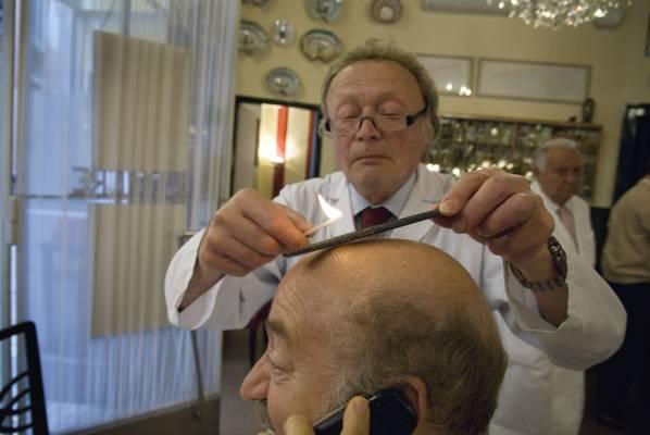 No. 37: Milan barber Franco Bompieri