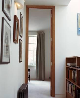 Tall doorways add space at Logan Mews