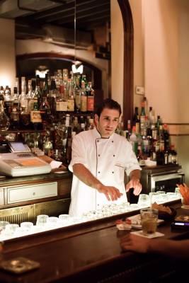 Barman at Kayan bar