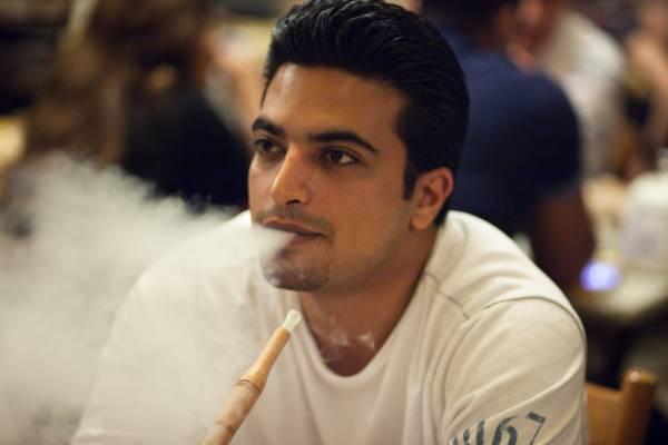 Smoking in Gemmayzeh Café