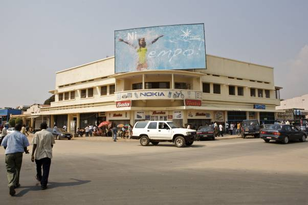 Advertising in Bujumbura city centre