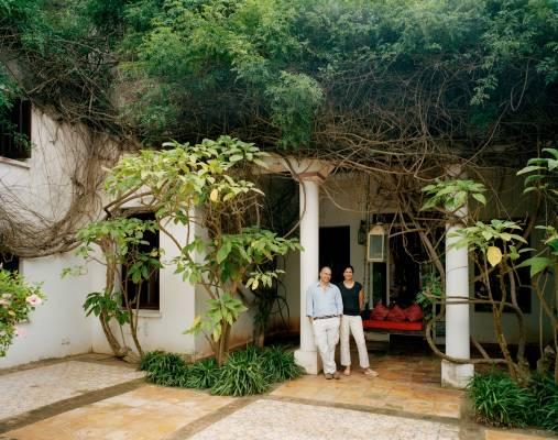 Tahir and Rachana Shah at their home