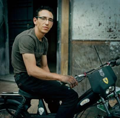 Motorcycle workshop on Avenue Hadj Amar Riffi