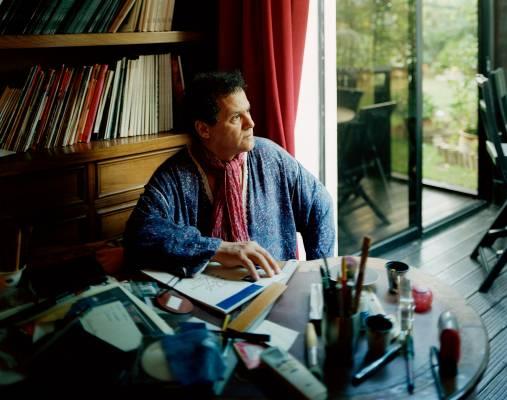 Mehdi Qotbi at his home