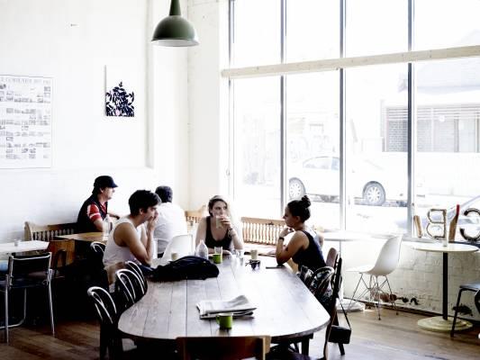 Cibi, the Tanakas' shop/café