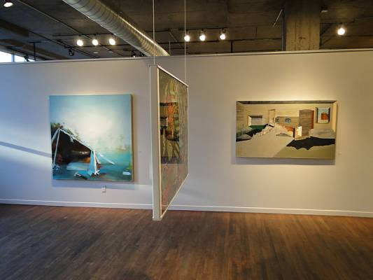 Galerie Simon Blais in Montréal is hosting the Lieux Échafaudés exhibit