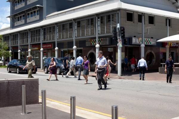 Knuckey and Smith Streets in central Darwin