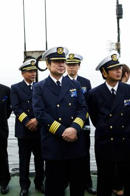 JCG officers on board Yashima
