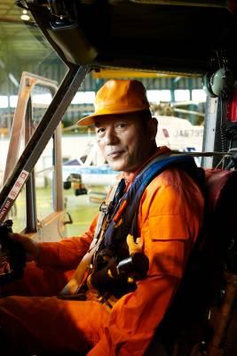 Chief helicopter pilot  Haruo Ozaki