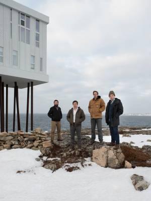 Architects who worked on the inn (left to right): Kingman Brewster, Joseph Kellner, Eric Ratkowski and Nick Herder