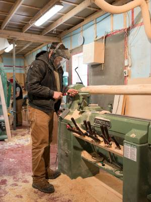 The wood shop, where all the furniture for the inn has been crafted by a small group of Fogo islanders