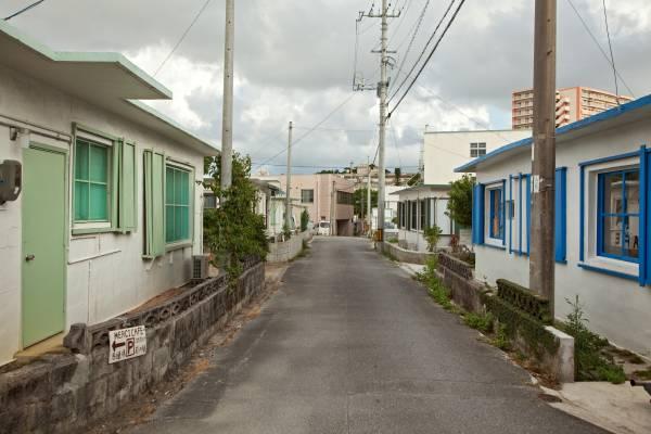 Street in the Minato-gawa area of Okinawa
