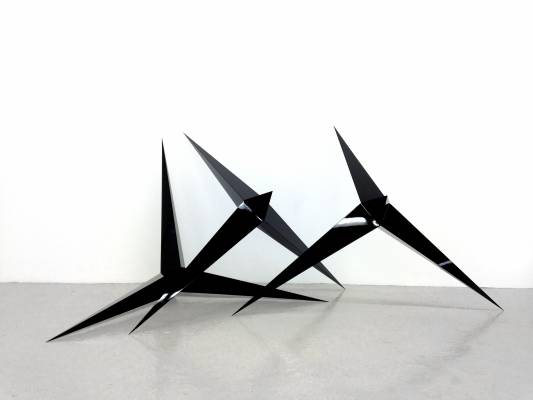London-based artist Mohammed Qasim Ashfaq's sculptures are now at the Hannah Barry gallery in the capital