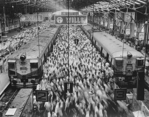 Sebastião Salgado's photo Church Gate Station, Bombay, India (1995) is among the works on show at the Sundaram Tagore Gallery in Hong Kong © Sebastião Salgado/Amazonas Image