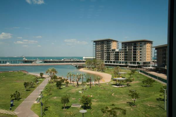 A new residential and commercial complex in Darwin's wharf