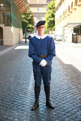 Guard on duty at Sant'Anna gate