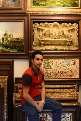 Rasoul, a vendor in the carpet bazaar