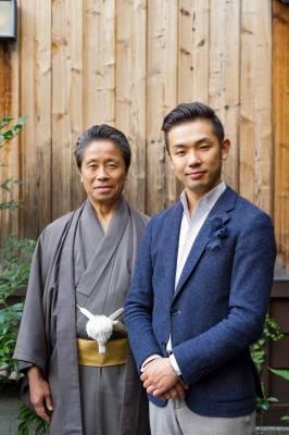 Masataka Hosoo (right) with his father, Masao Hosoo