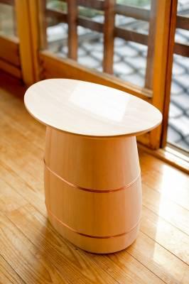 Turned wooden stool by Shuji Nakagawa