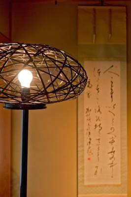 Bamboo light shade by Tatsuyuki Kosuga