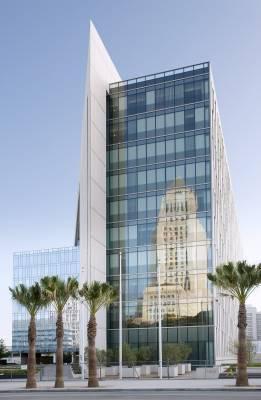 Façade of LAPD's new headquarters
