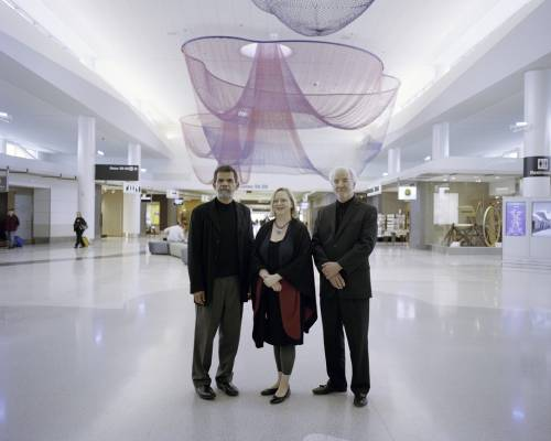 Ray Quesada, Melissa Mizell and Steven Weindel, T2's project managers
