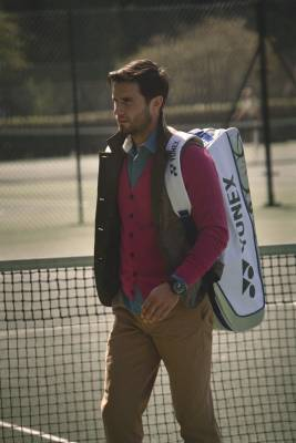 vest by Sophnet., cardigan by The Inoue Brothers, shirt by Folk, trousers by Ralph Lauren, watch by IWC, 