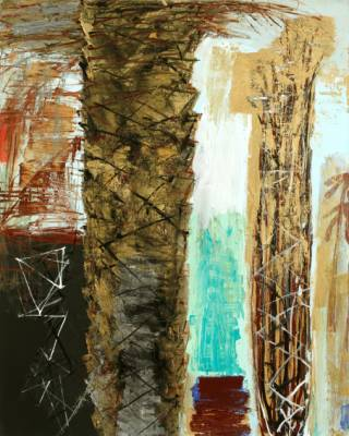 Ben Brown Fine Arts gallery in London hosts Lebanese painter Nabil Nahas's latest show Phoenix Dactylifera