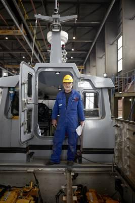 Foreman aboard a patrol boat