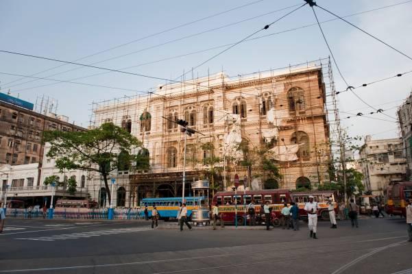 Renovation work in central Kolkata