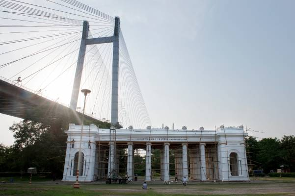 Princep Ghat and Vidyasagar Setu Bridge