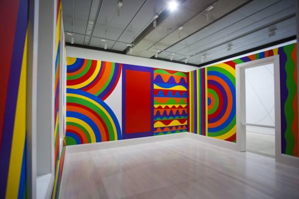Sol LeWitt's 'Wall Drawing #1091: Arcs, Circles and Bands (Room)', 2003