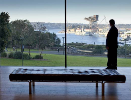 View from the Art Gallery of New South Wales's modern Australian galleries