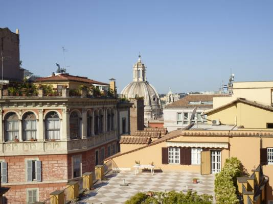 Looking out from the Hotel Bolivar onto Rome's historic skyline